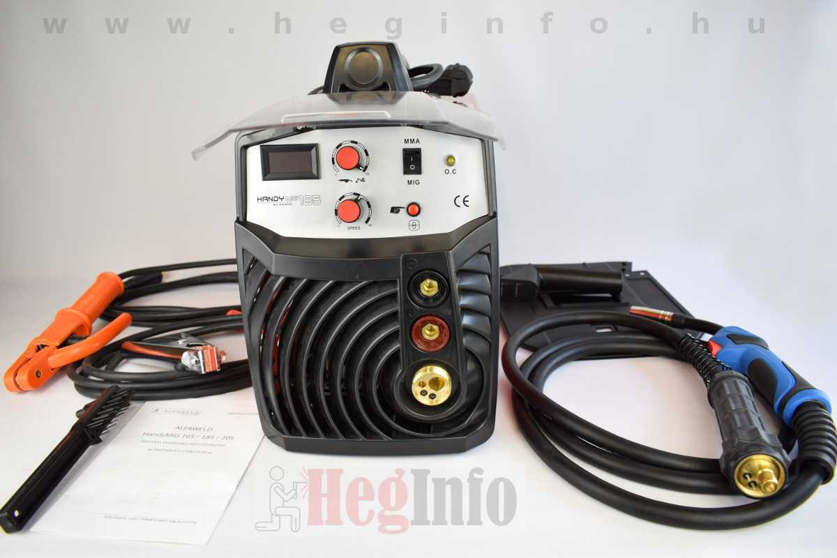Alfaweld HandyMIG 185 inverteres CO hegesztőgép ismertető
