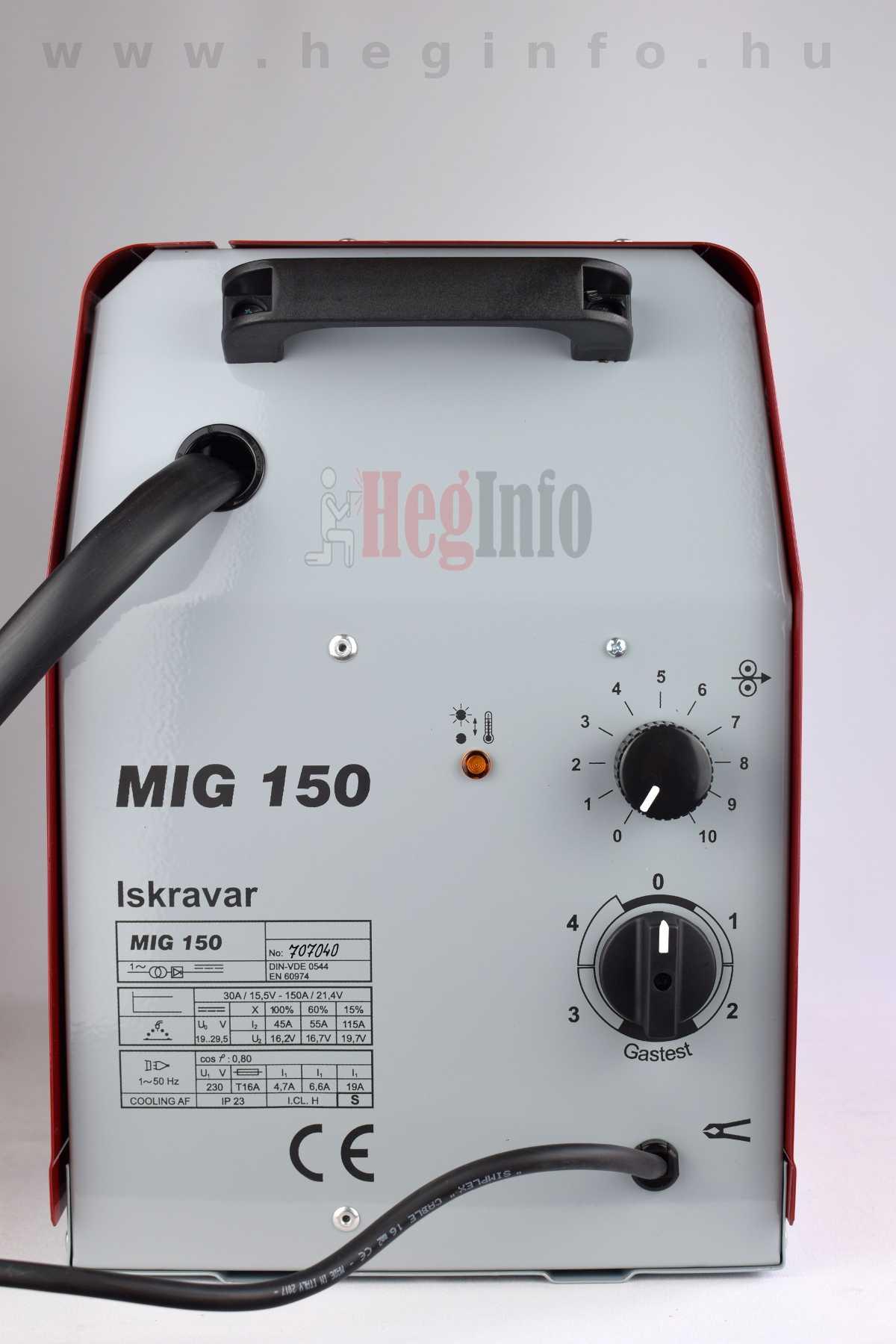 Iskravar MIG 150 transzformátoros védőgázos hegesztőgép