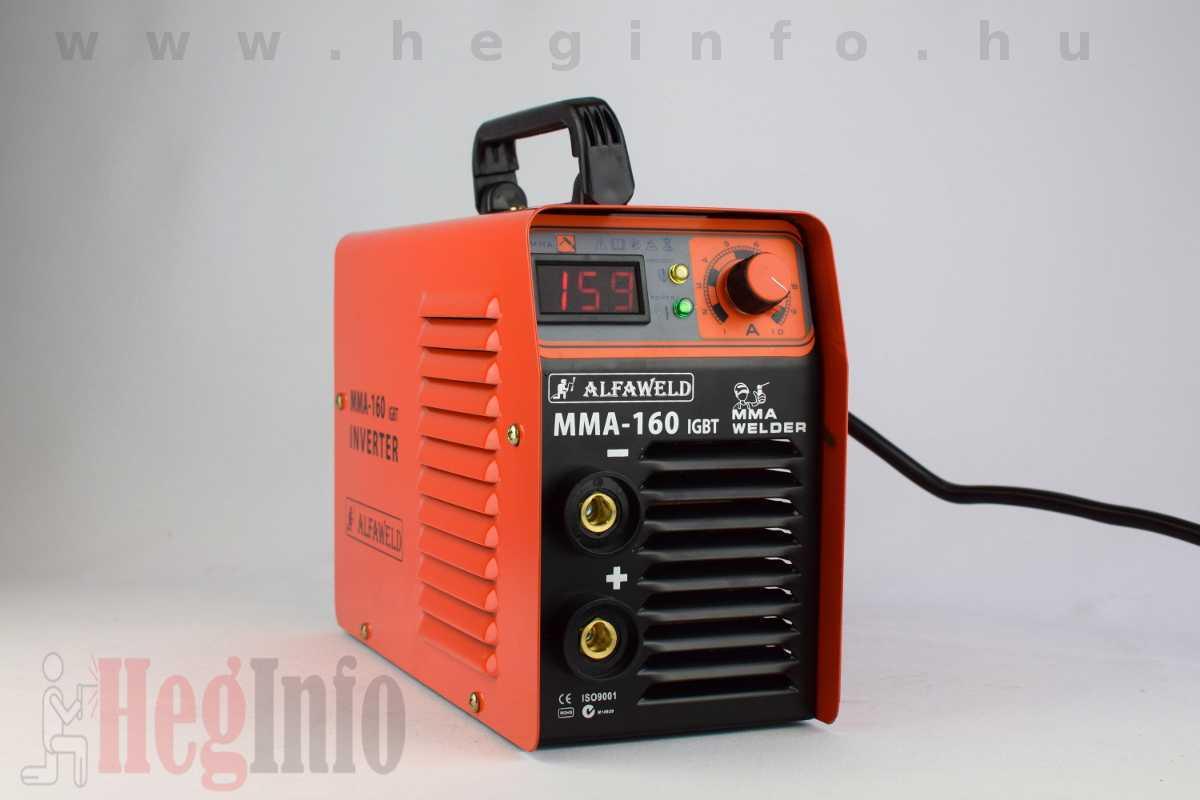 Alfaweld MMA 160 inverteres hegesztőgép