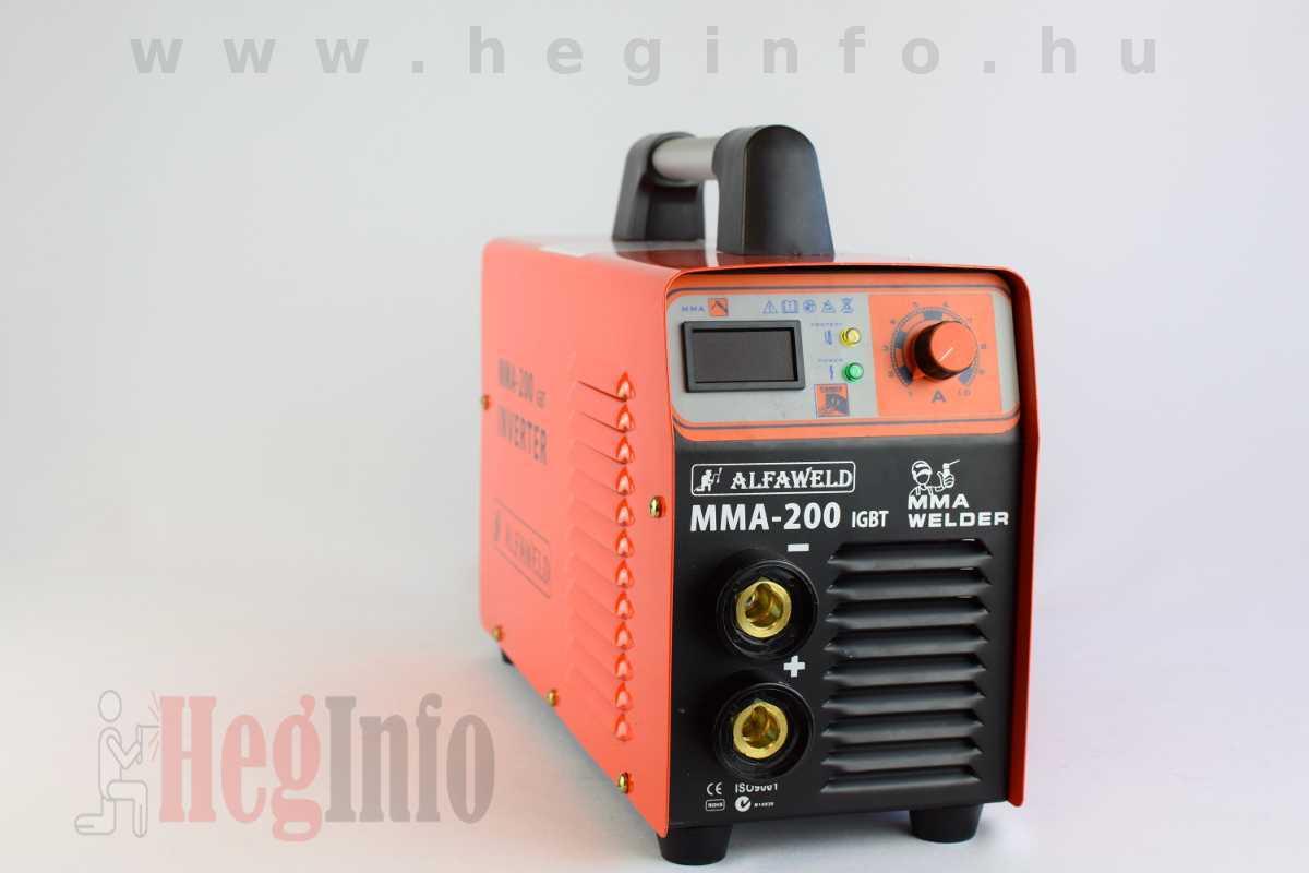 Alfaweld MMA 200 inverteres hegesztőgép