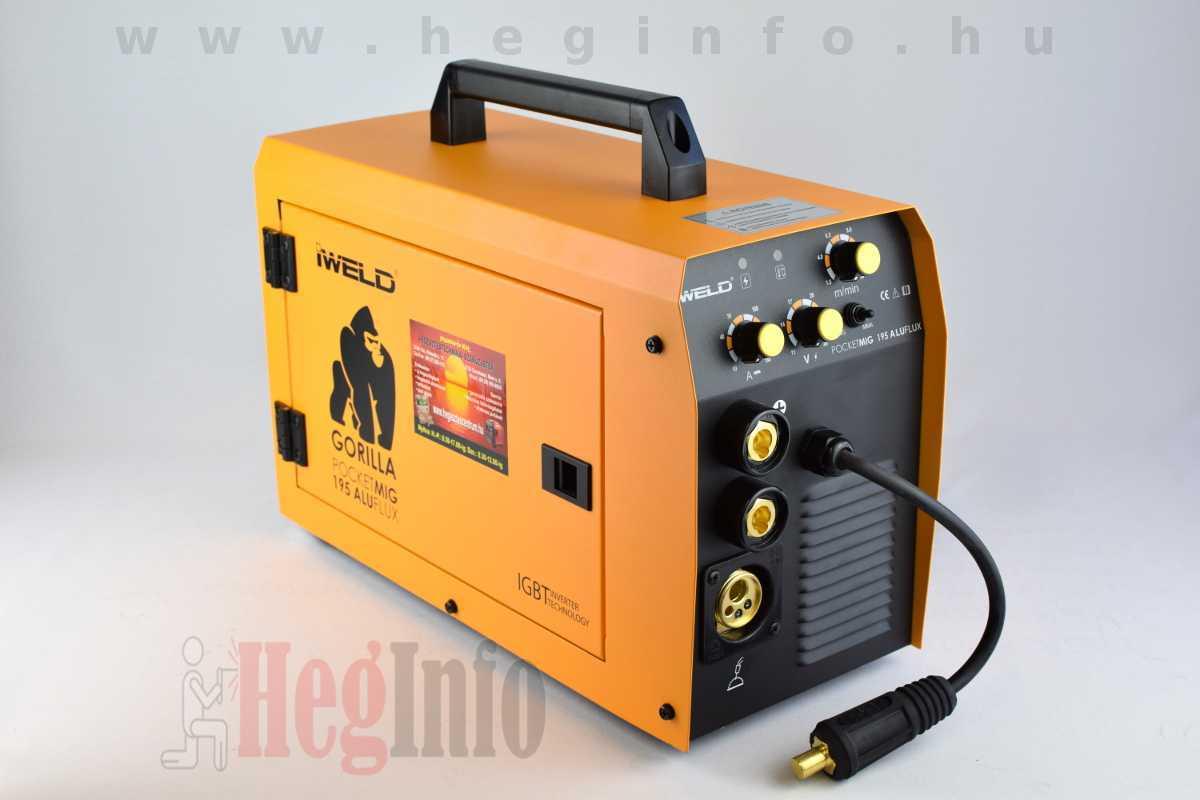 Iweld Pocketmig 195 Aluflux inverteres hegesztőgép