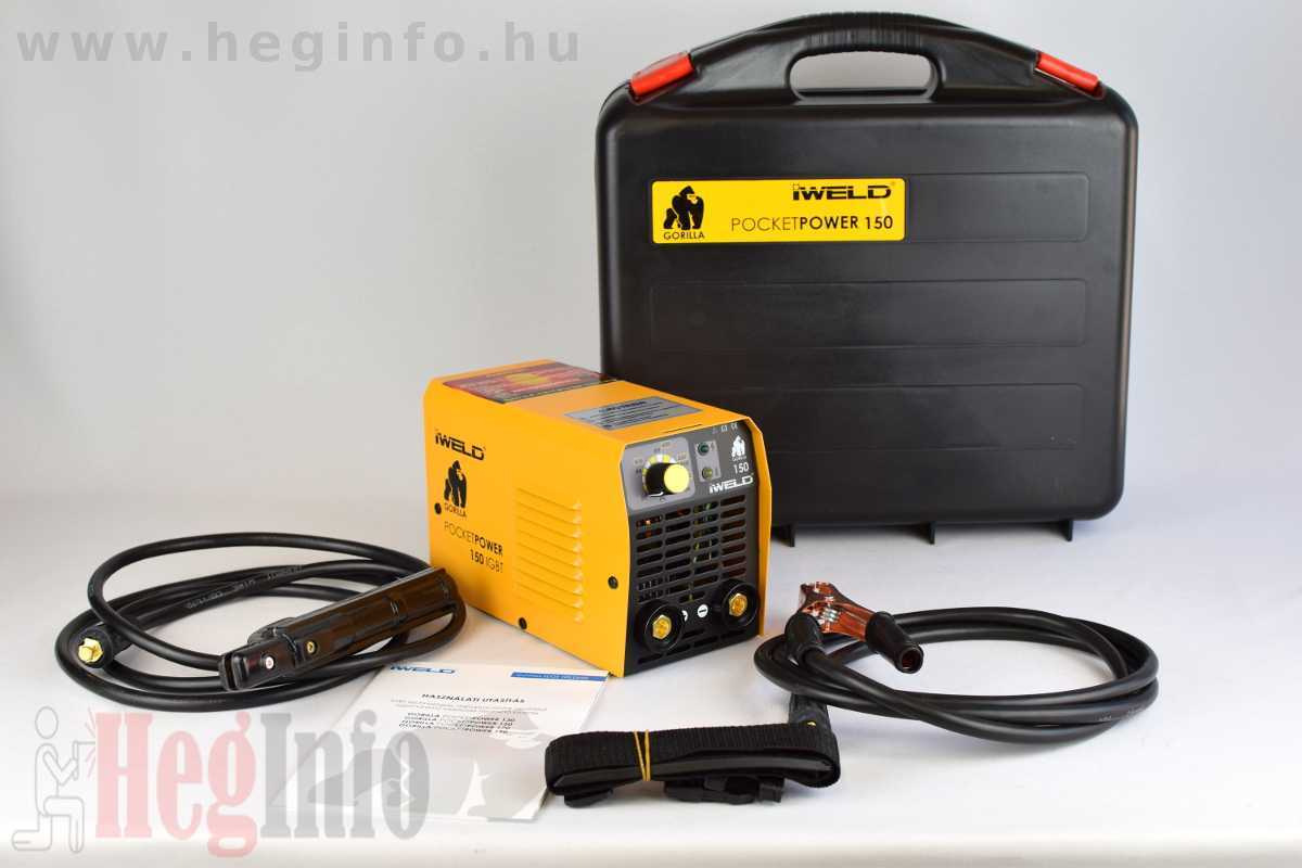 Iweld Gorilla Pocketpower 150 MMA hegesztő inverter