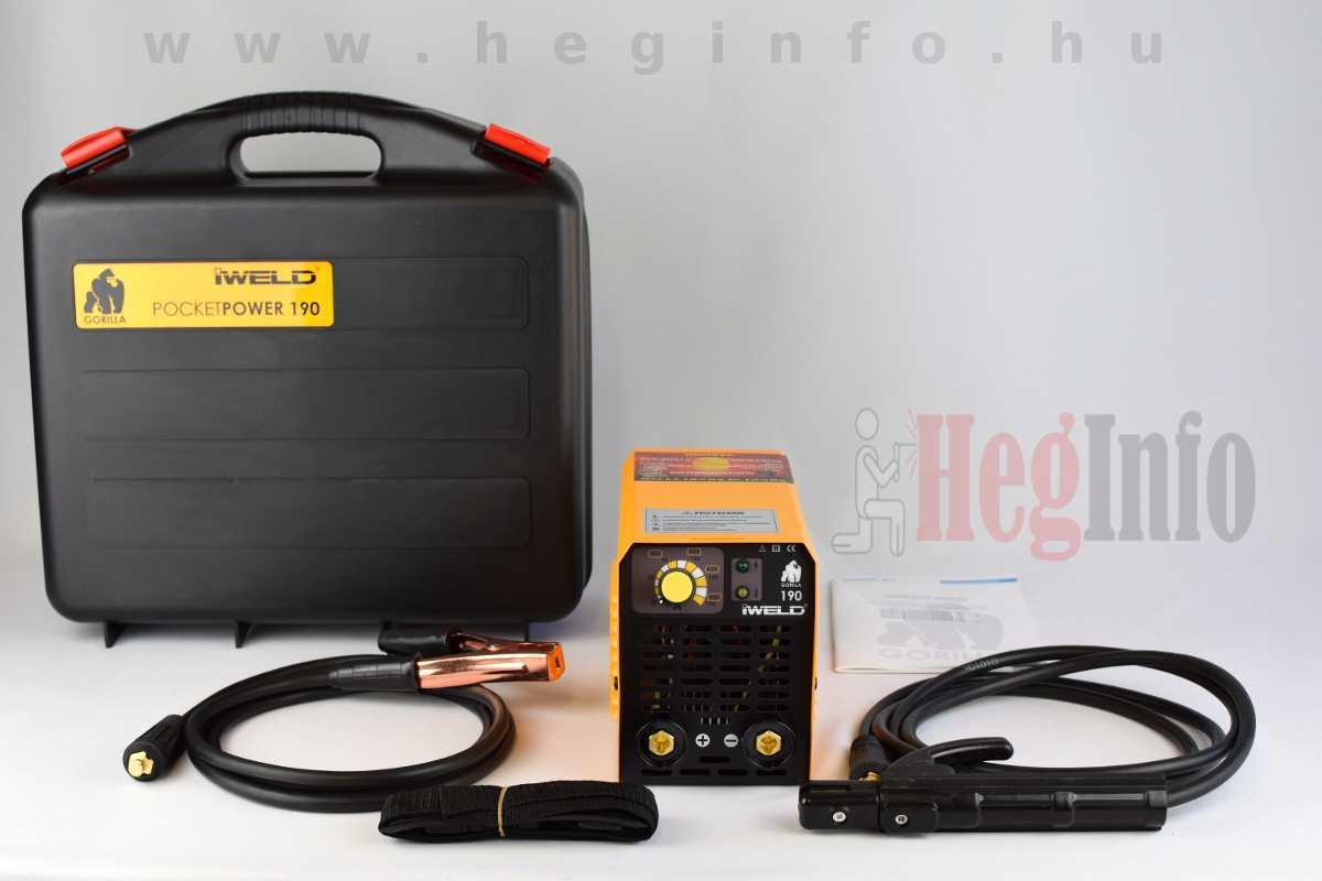 Iweld Gorilla Pocketpower 190 MMA hegesztő inverter