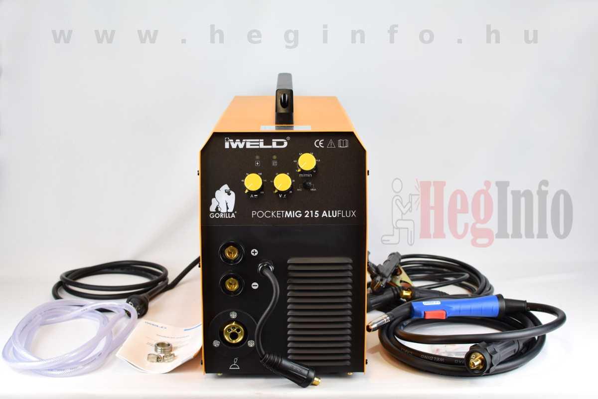 Iweld Pocketmig Aluflux 215 inverteres hegesztőgép