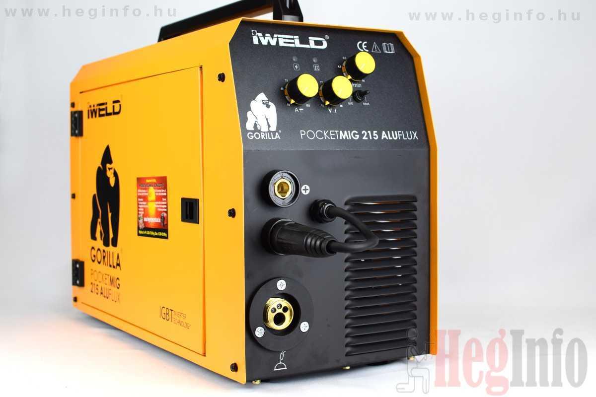 Iweld Pocketmig 215 Aluflux inverteres hegesztőgép