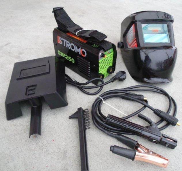 STROMO 250A Inverteres hegesztőgép és automata fejpajzs akció