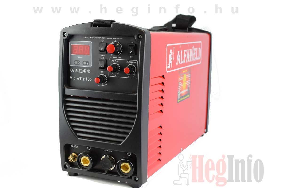 Alfaweld MicroTIG 185 inverteres AWI AC/DC hegesztőgép