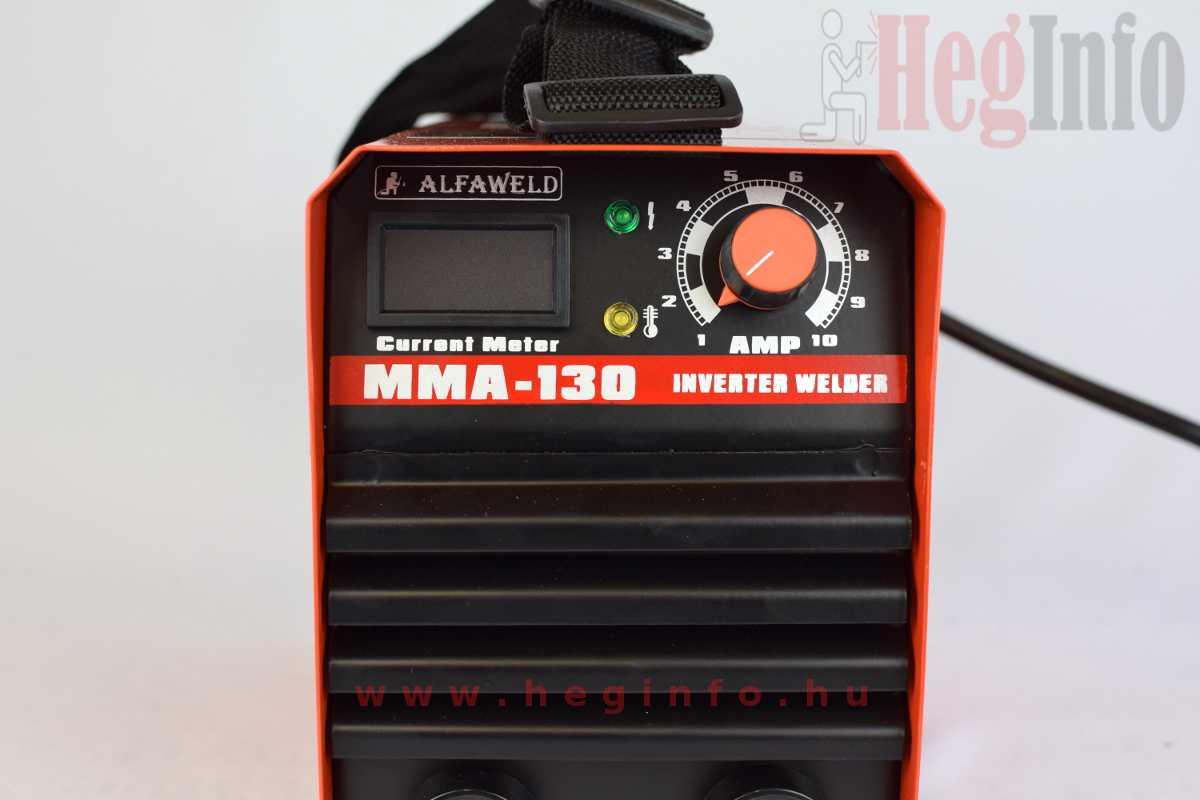 alfaweld mma 130 hegeszto inverter kezelő felület