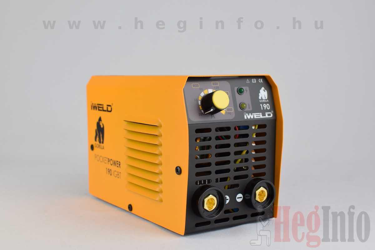 iweld gorilla pocketpower 190 hegesztő inverter heginfo hegesztéstechnika hegesztőgép 2