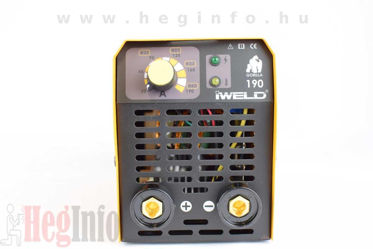 iweld gorilla pocketpower 190 hegesztő inverter heginfo hegesztéstechnika hegesztőgép 3