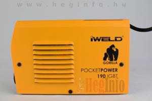 iweld gorilla pocketpower 190 hegesztő inverter heginfo hegesztéstechnika hegesztőgép 5