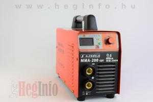 alfaweld mma 200 hegesztő inverter hegesztőgép heginfo hegesztéstechnika 2