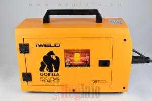 iweld gorilla pocketmig aluflux 195 inverter hegesztőgép heginfo hegesztéstechnika 8
