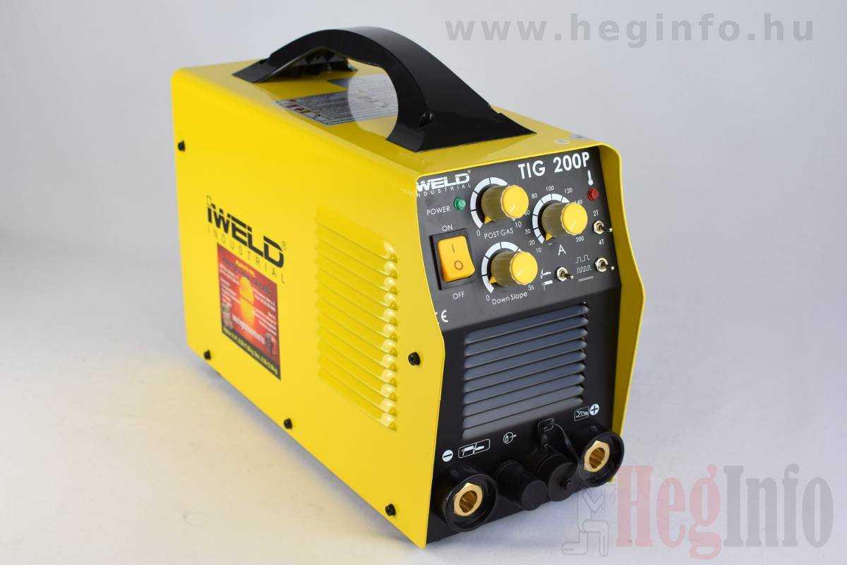 IWELD TIG 200 Pulse Hegesztő inverter heginfo hegesztéstechnika