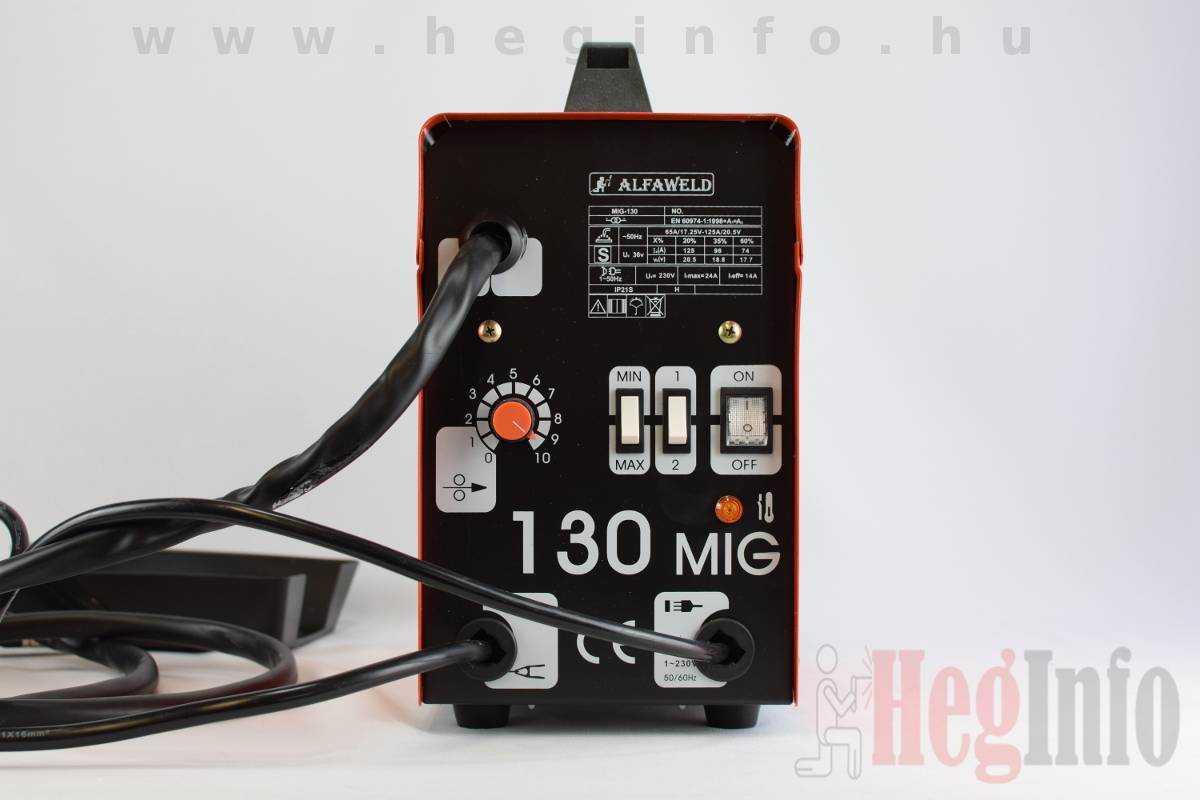 Alfaweld MIG 130 AC porbeles hegesztőgép