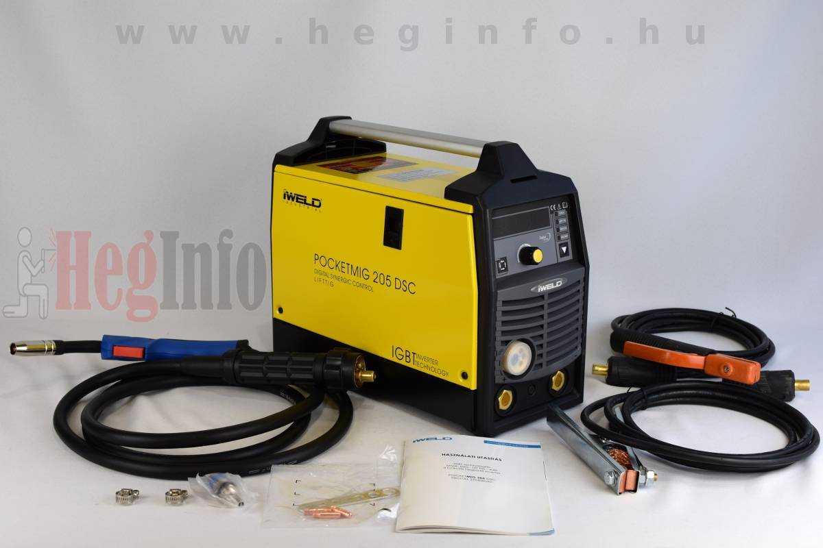 Iweld Pocketmig 205 DSC Digital Synergic multifunkciós hegesztőgép