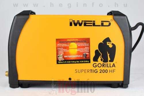 iweld gorilla supertig 200 hf inverter 7 hegesztogep heginfo hegesztestechnika