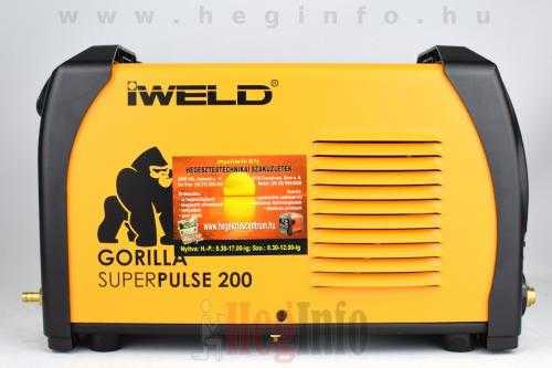 iweld gorilla superpulse 200 inverter 6 hegesztogep heginfo hegesztestechnika