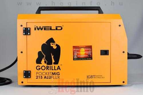 iweld gorilla pocketmig 215 aluflux inverteres hegesztogep 4