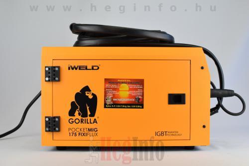 iweld gorilla pocketmig 175 fixiflux inverteres hegesztogep 6