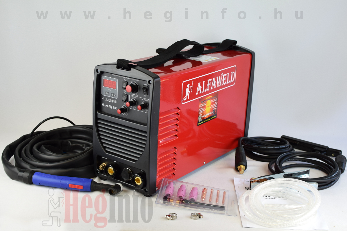 Alfaweld MicroTIG 185 inverteres hegesztőgép