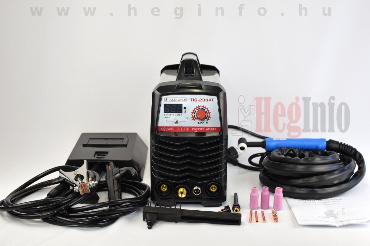 Alfaweld TIG 200PT inverteres hegesztőgép