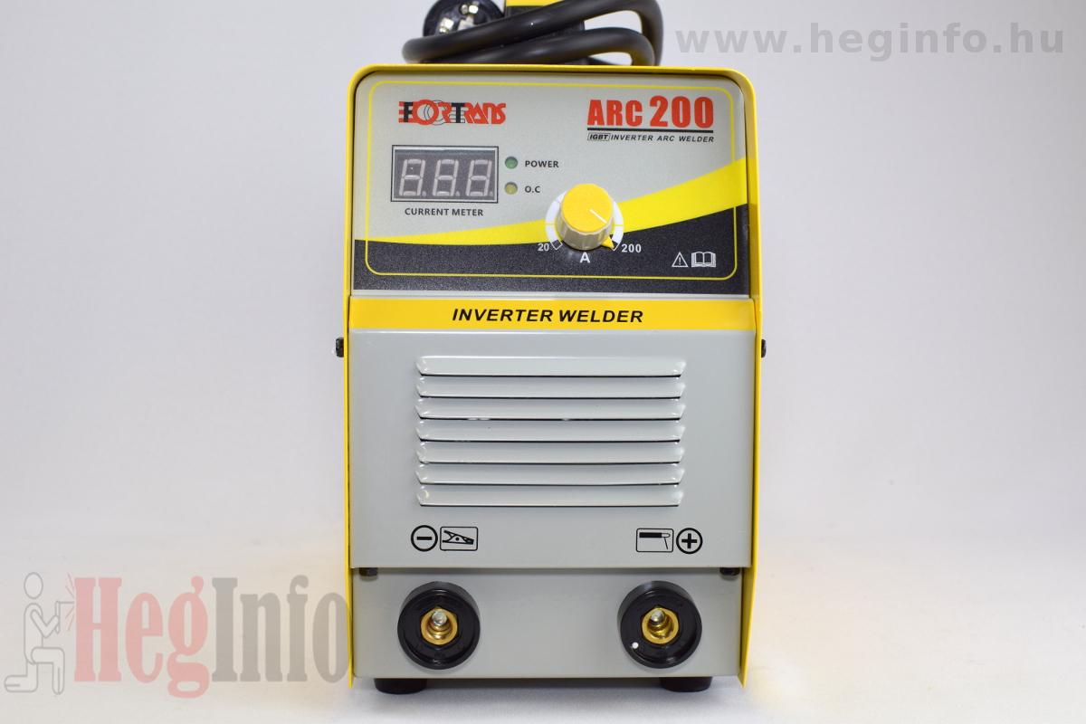 Fortrans ARC 200 mma inverteres hegesztőgép