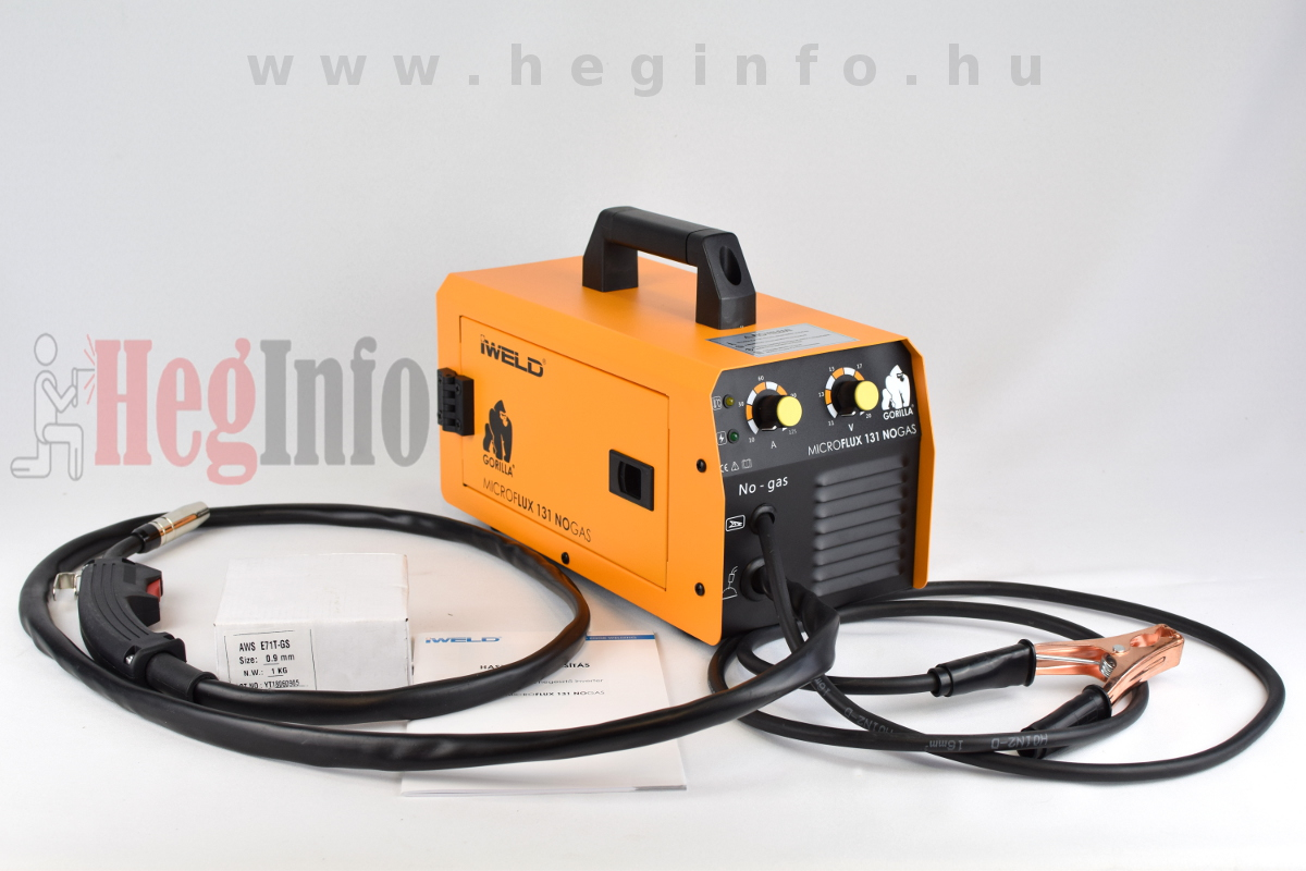 IWELD GORILLA MICROFLUX 131 NOGAS hegesztő inverter Heginfo hegesztéstechnika