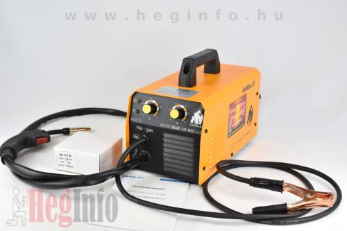 IWELD GORILLA MICROFLUX 131 NOGAS hegesztő inverter Heginfo hegesztéstechnika 3