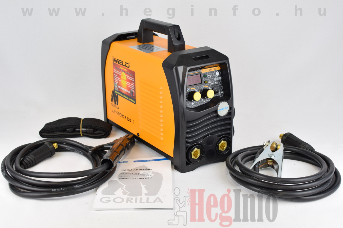 Iweld gorilla superforce 220 lt inverteres hegesztőgép