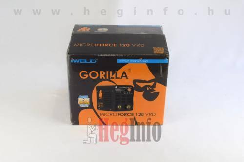 iweld gorilla microforce 120 vrd hegeszto inverter heginfo hegesztestechnika