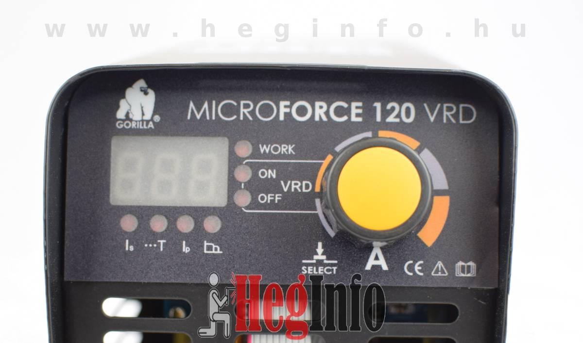iweld gorilla microforce 120 vrd hegeszto inverter 7 heginfo hegesztestechnika