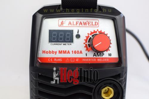 alfaweld hobby mma 160 inverteres hegesztogep HegInfo hegesztéstechnika hegesztőgépek