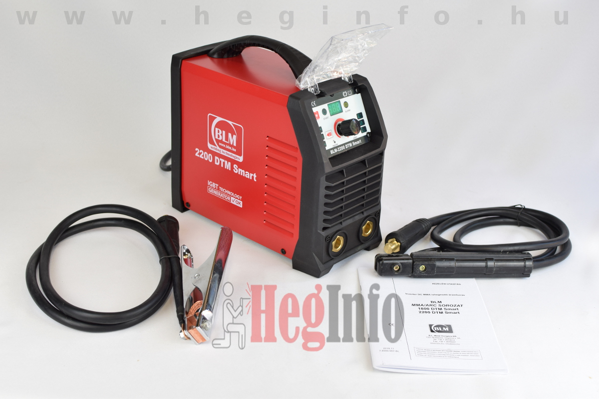 BLM 2200 dtm smart inverteres hegesztőgép tartozékaival HegInfo hegesztéstechnika