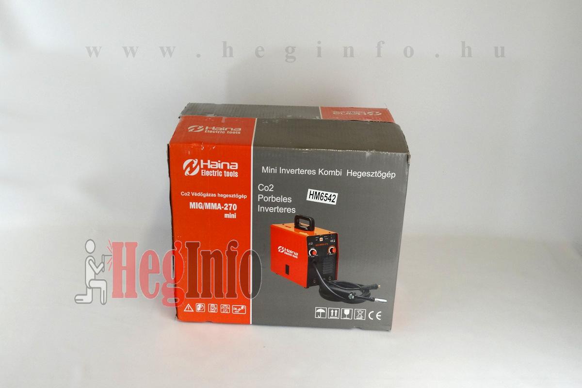 haina mig-mma-270 inverteres hegesztogep csomagolasa heginfo hegesztes hegesztestechnika