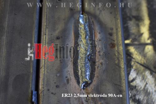 er23 hegeszto elektroda vizszintes varrat 90A